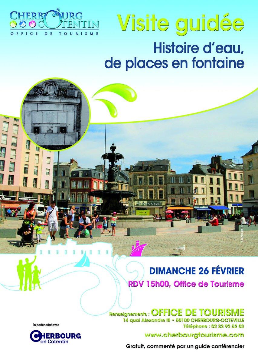 Ne ratez pas, première visite guidée gratuite de l&#39;année &quot;Histoire d&#39;eau de places en fontaines&quot;, le 26/02 à 15h #Cherbourg <br>http://pic.twitter.com/htrPVbmCd1
