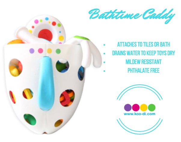 Keep your #bathroom in order with our handy bath-time caddy! #toddlers...
