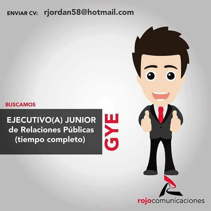 #GUAYAQUIL #Ecuador #Sihaytrabajo   Se Necesita Ejecutivo(a) junior de relaciones públicas: rjordan58@hotmail.com <br>http://pic.twitter.com/TxHVCrLgcU