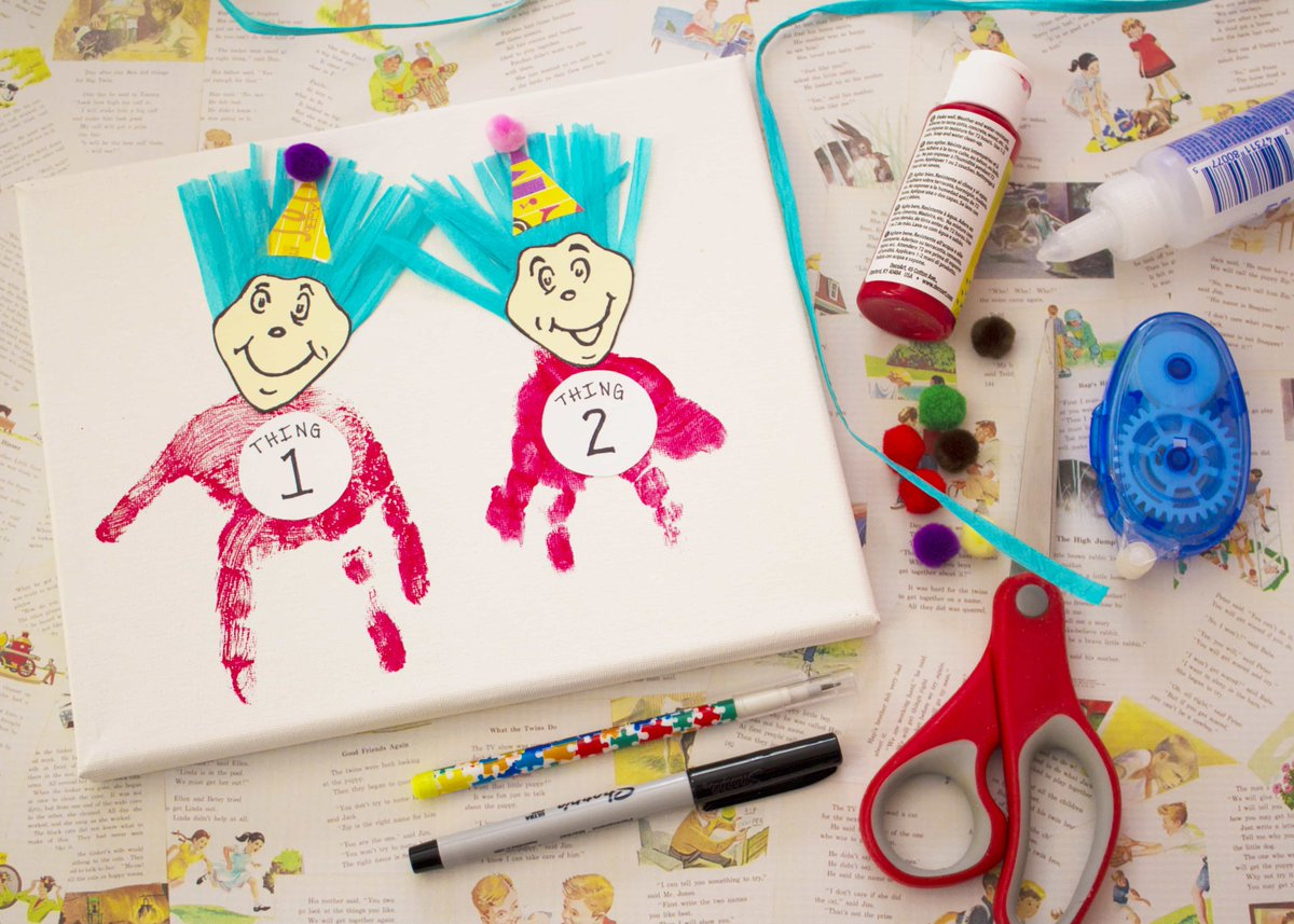 #DrSeuss has a birthday coming up on March 2! Celebrate with this #Thing1 and #Thing2 #craftforkids! * #ontheblog *  http:// buff.ly/2ldD3va  &nbsp;  <br>http://pic.twitter.com/oAwED5xced