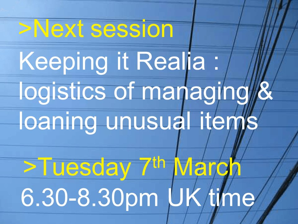 #uklibchat 7th March 2017, 18.30-20.30 Keeping it Realia https://t.co/vuJZEcEgW5 https://t.co/IYU0UqIIAa