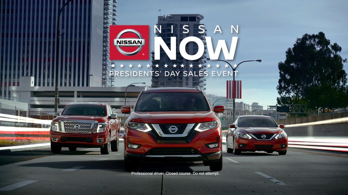 """oak ridge nissan on twitter: """"hurry into nissan for presidents' day"""