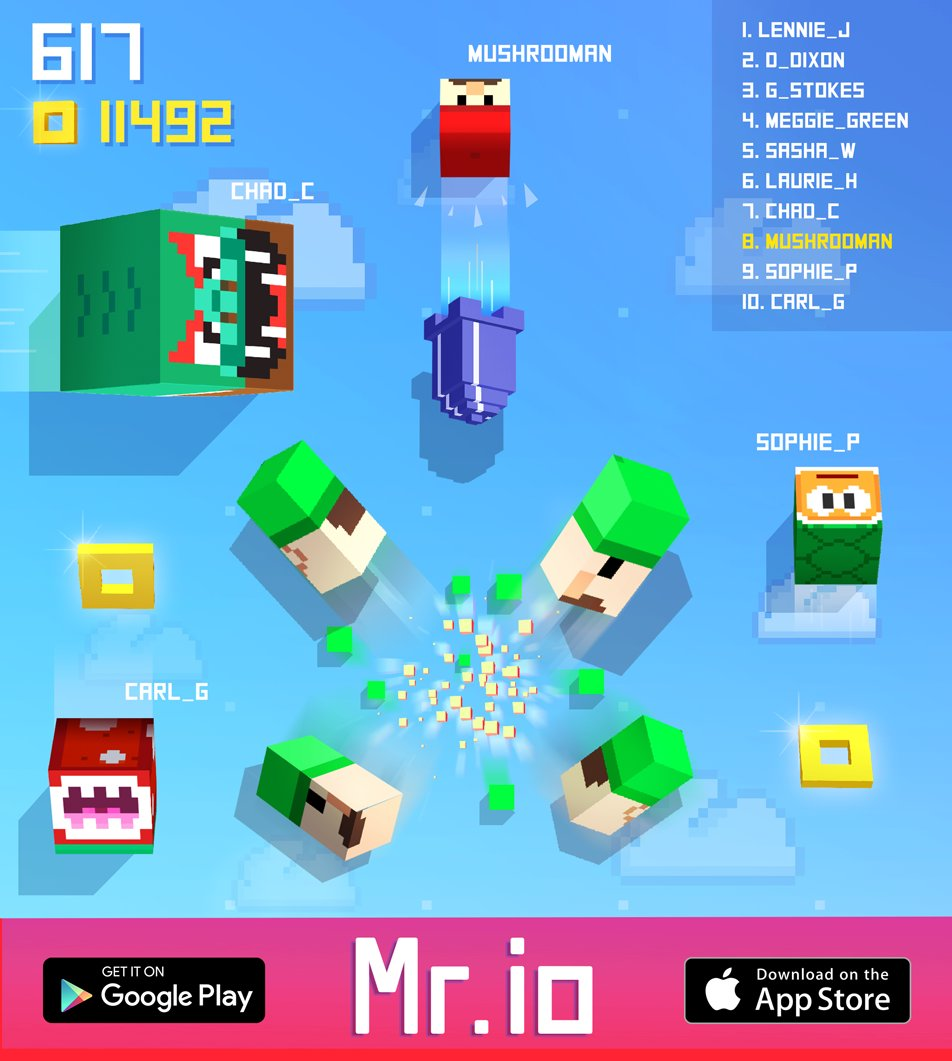 Eat or be eaten - Mr.io is live! Get it FREE on iOS:  http:// bit.ly/mrio_ios  &nbsp;   &amp; GP:  http:// bit.ly/mrio_gp  &nbsp;   #mrio #io<br>http://pic.twitter.com/ogZ8vf0AtK