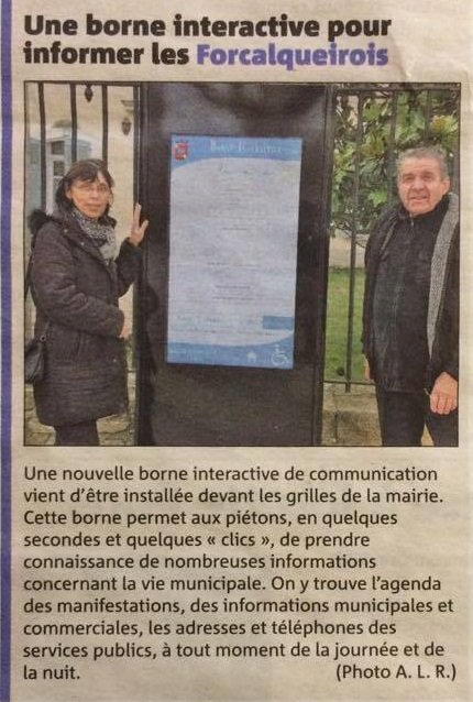 La borne BNG s'installe à Forcalquieret  @Var_Matin   #Forcalquieret @BNGTOUCH   #kiosques   #outdoors <br>http://pic.twitter.com/CNiy9TVbRC