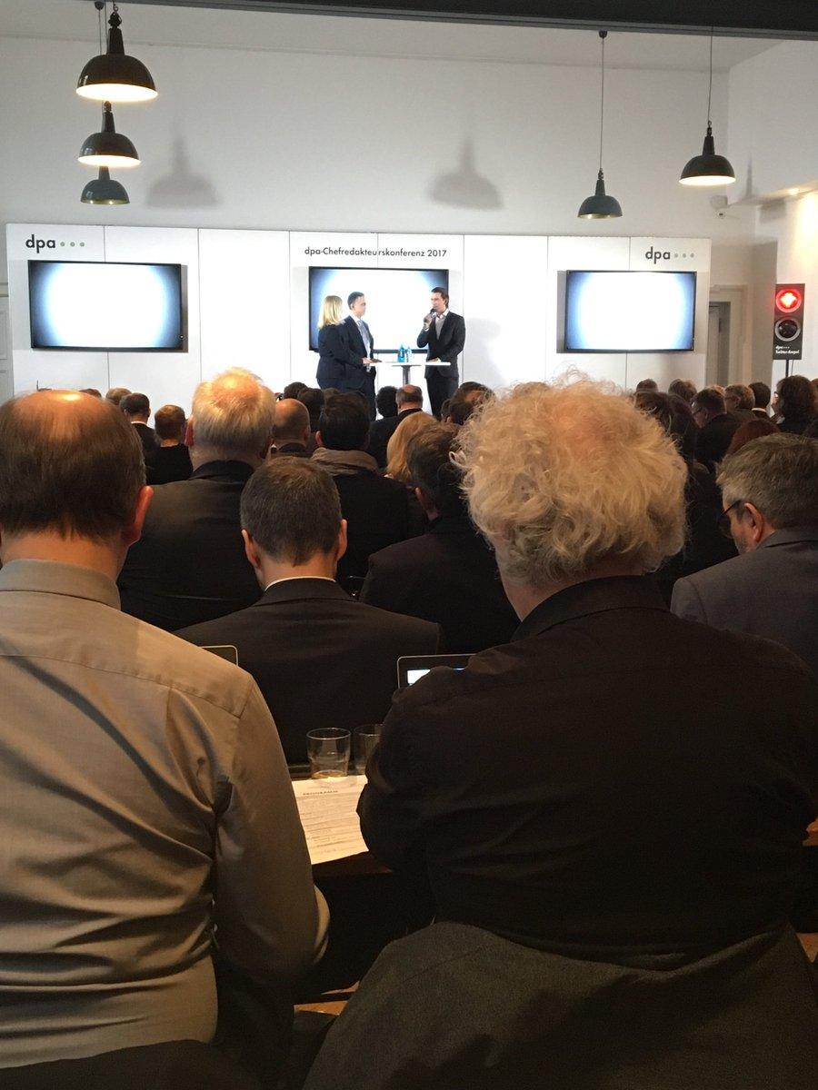 Bundesminister @sebastiankurz auf diesjähriger #dpa17 Konferenz im Ges...