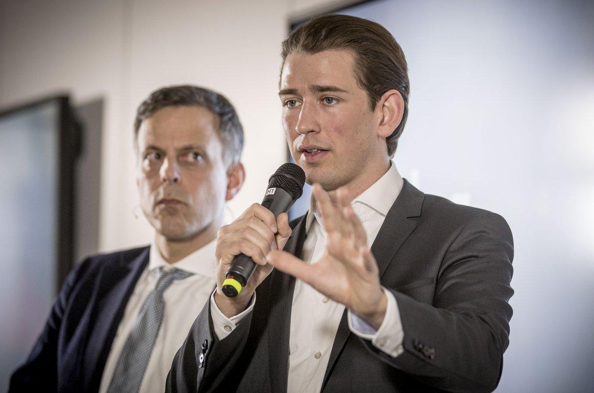 Österreichs Außenminister @sebastiankurz bei #dpa17 - 'unter drei' im...