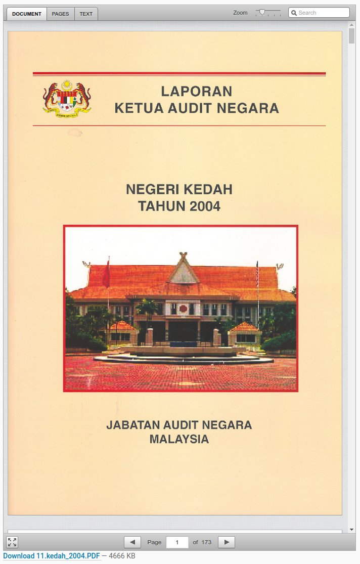 Khairil Yusof On Twitter Unsung Heroes At Jabatan Audit Negara Who Uploaded Decade S Worth Of Audit Reports For Federal States Thank You Now Archived At Govdocs Https T Co Ul6d2bwjmd