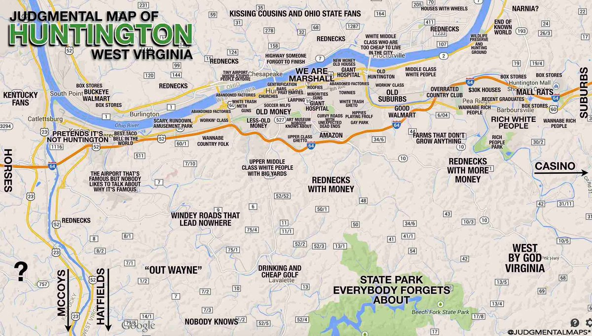 EERSNATION on Twitter Judgmental maps of Morgantown and