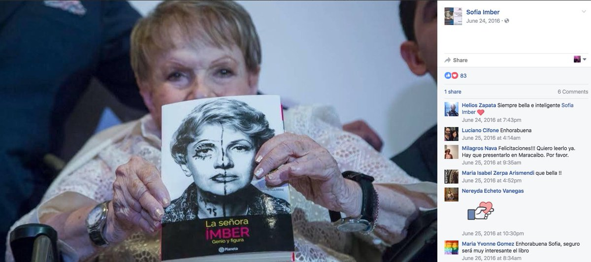 Muere la venezolana Sofía Ímber, periodista y defensora de los derecho...