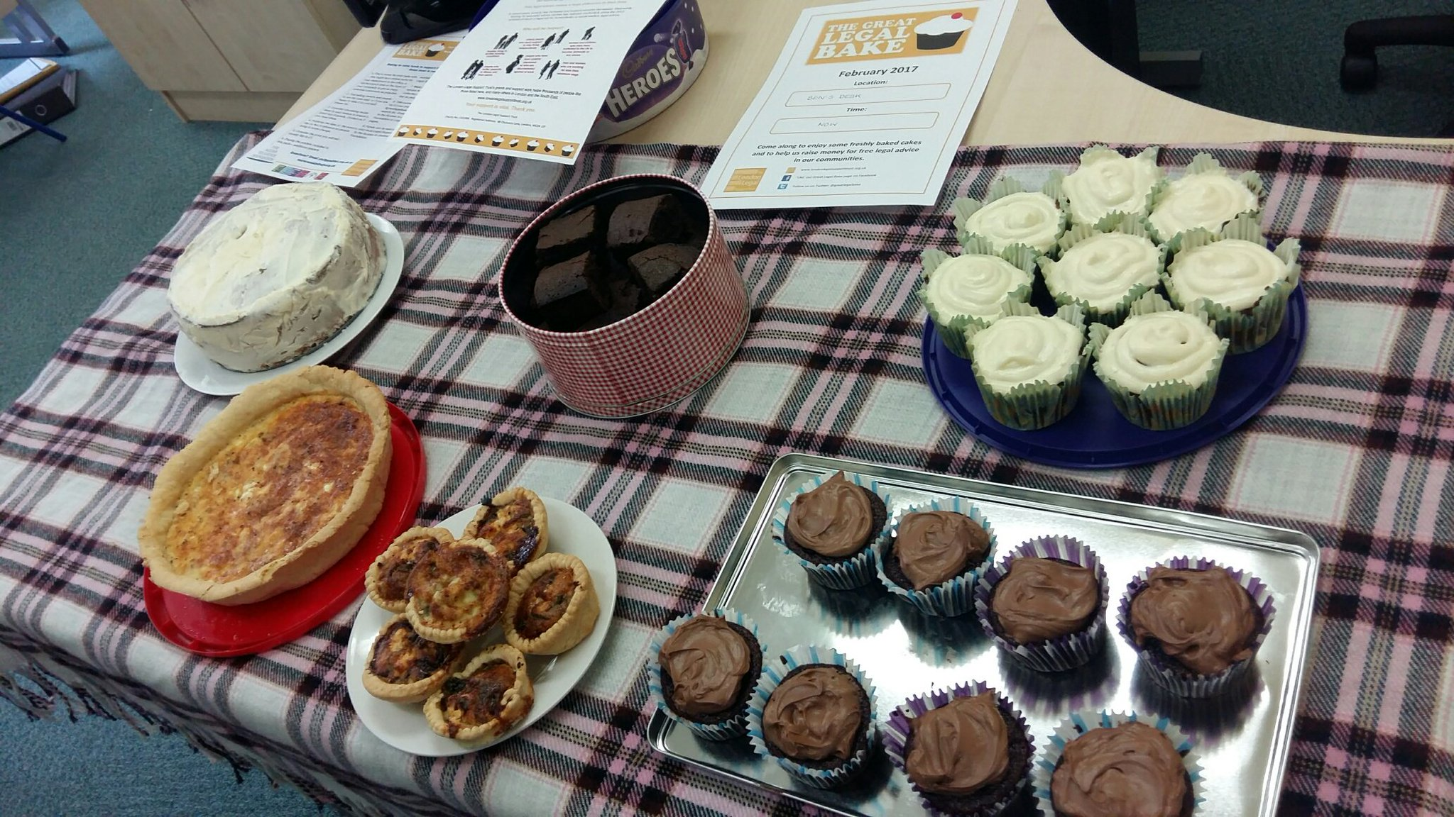 The John M Hayes Bristol office's baking efforts for the #greatlegalbake We're now all feeling the effects of too much sugar!! https://t.co/kcF6tVh0Rq