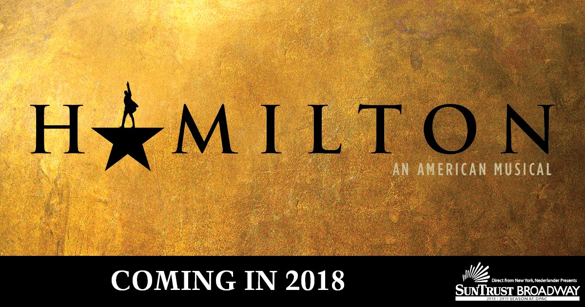 We are eager to announce @HamiltonMusical is coming in 2018. For more info, https://t.co/vZvMdvtuLa https://t.co/shkCbw7idx