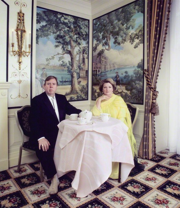 Happy birthday actress Brenda Blethyn With Timothy Spall  by Andy Gotts lambda print, 2007