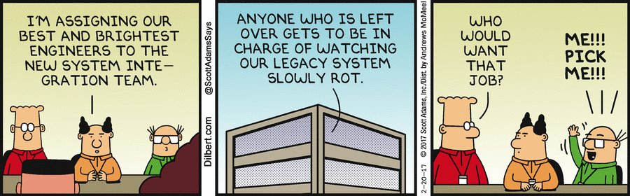 Dilbert on legacy https://t.co/K2u19lKoA3