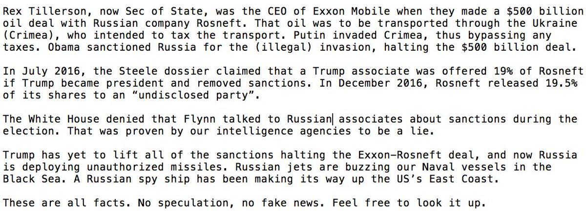 Re: &quot;Donald Trump and Russia&quot;: Cry fake news all you want but the facts speak for themselves #followthemoney <br>http://pic.twitter.com/gOsQj9jVIB