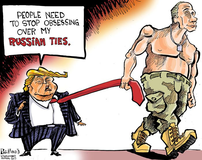 We should all be worried about @realDonaldTrump&#39;s relationship with #Russia. #Vladimir #Putinspuppet #Ties #Trump   http:// host.madison.com/wsj/opinion/ca rtoon/hands-on-wisconsin-donald-trump-and-his-russian-ties/article_76e9d656-ecfa-558f-8604-187f27cd3e2b.html &nbsp; … <br>http://pic.twitter.com/7mAUHZqh76