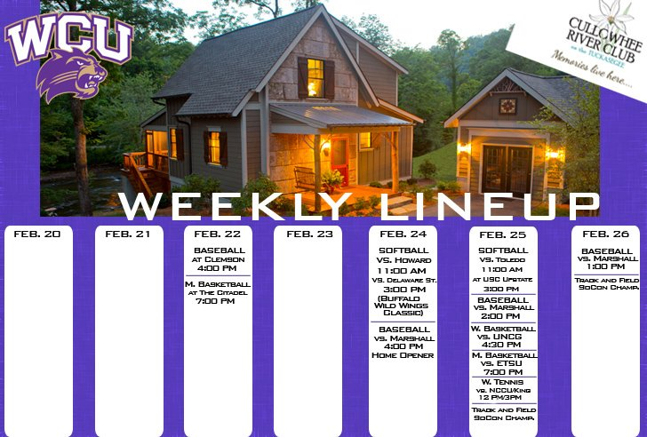 Catamount Weekly Line-up  (2-26-17)