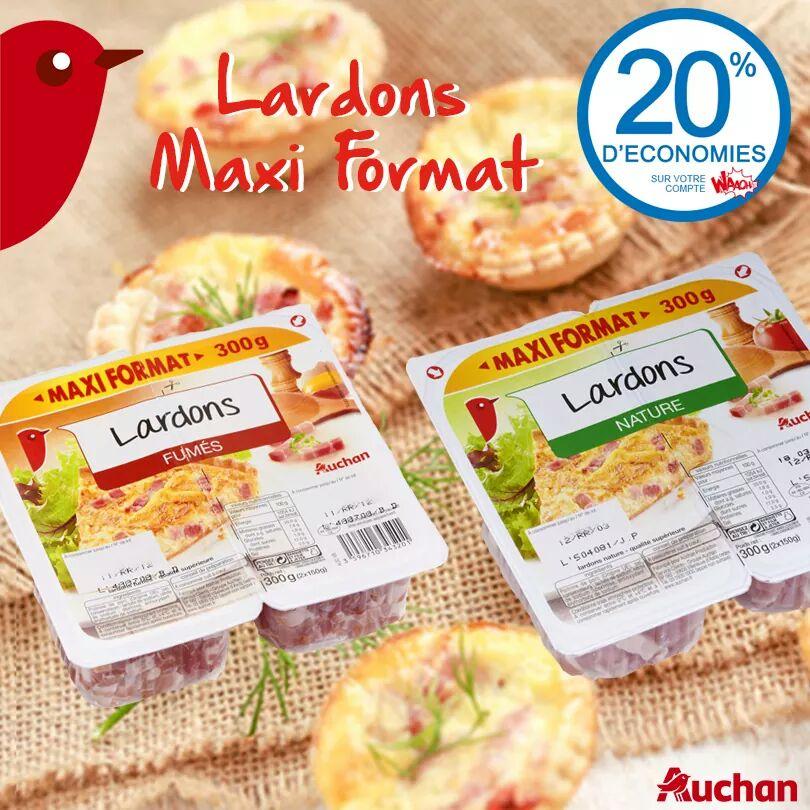Profitez des 20% sur votre compte Waooh avec les lardons MAXI FORMAT #Auchan <br>http://pic.twitter.com/yg3MxR8gnX