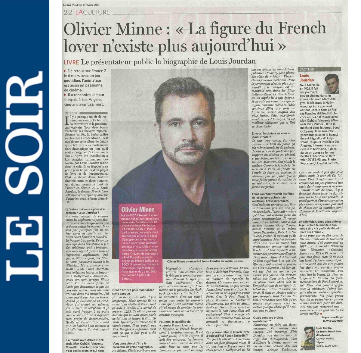 Merci à @FlavieGothie pour ce très bel article sur @louisjourdanoff @lesoir #frenchlover #hollywood #louisjourdan<br>http://pic.twitter.com/HwOxMsTeEL