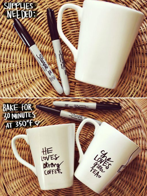 DIY Message Mug Tutorial