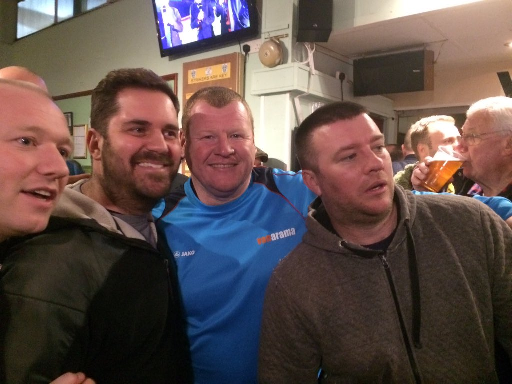 I kid you not. Sutton reserve keeper Wayne Shaw is in the bar at half-...