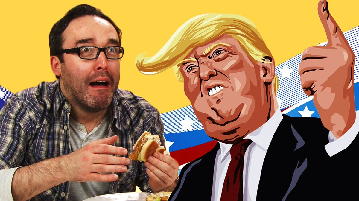 Watch &#39;Irish People Try Donald Trump&#39;s Favourite Foods&#39;. #PresidentsDay #Trump2017 #NomNom  https:// goo.gl/tpD7Vi  &nbsp;  <br>http://pic.twitter.com/AE8yQa4Ktz