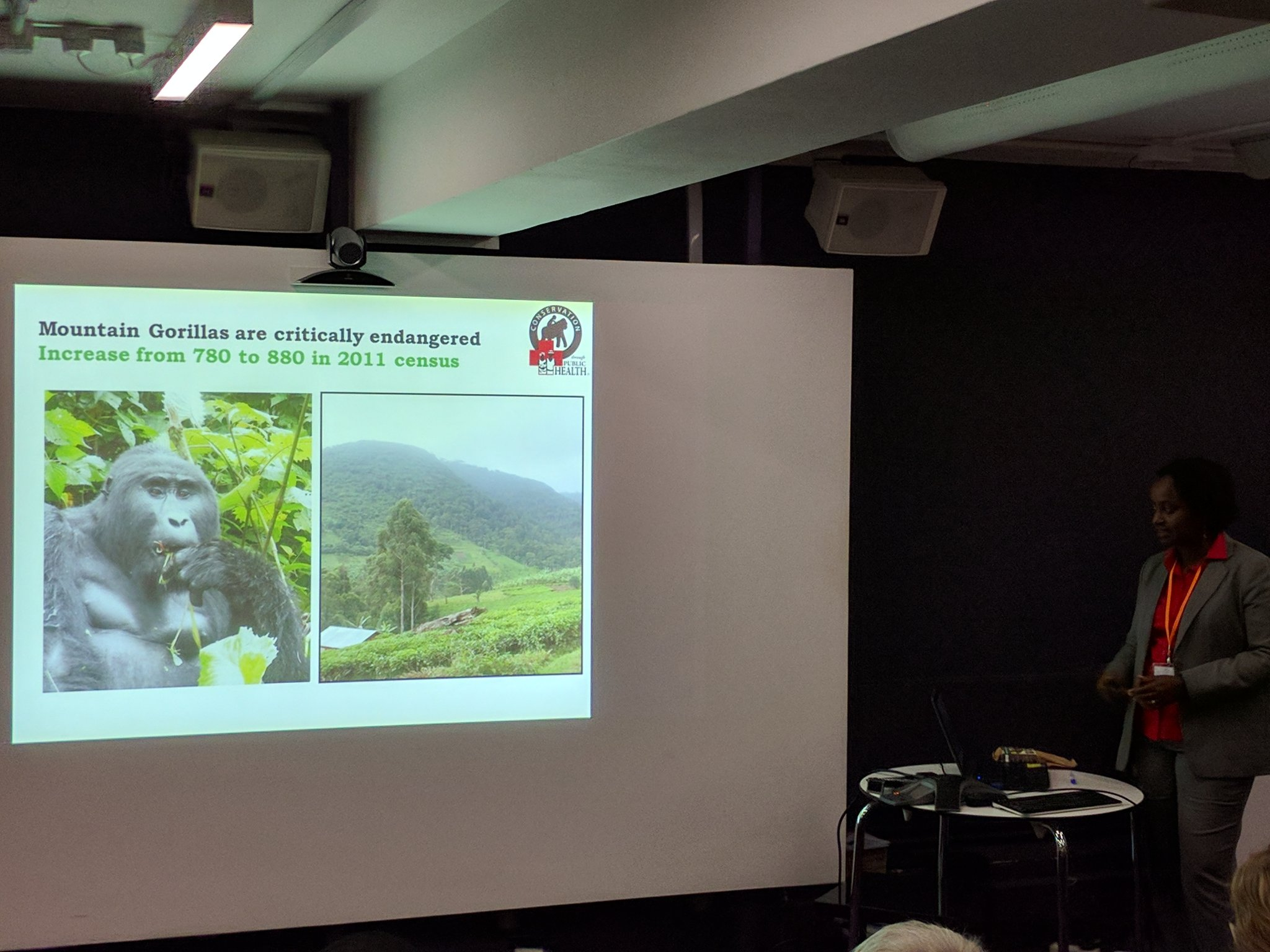 Listening to @DoctorGladys talk about critically endangered mountain gorillas at #Bwindi National Park in Uganda. https://t.co/EXJiOVwXP7