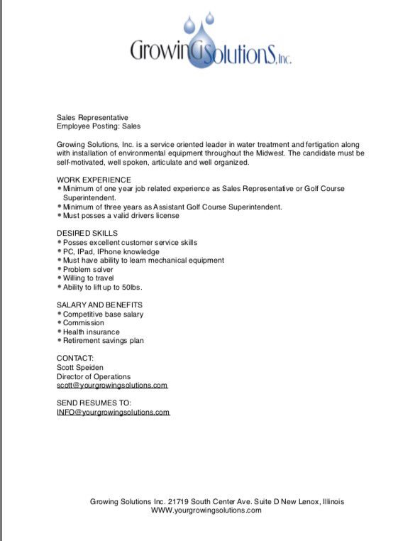 related post of golf course superintendent resume - Golf Assistant Jobs
