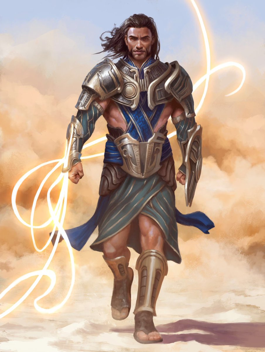 My Gideon illustration for the Planeswalker Decks of Amonkhet was previewed today. #mtgakh https://t.co/8NKhphgYss