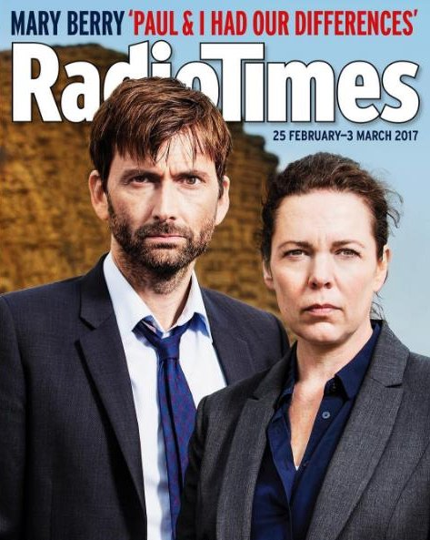 David Tennant on the front cover of Radio Times