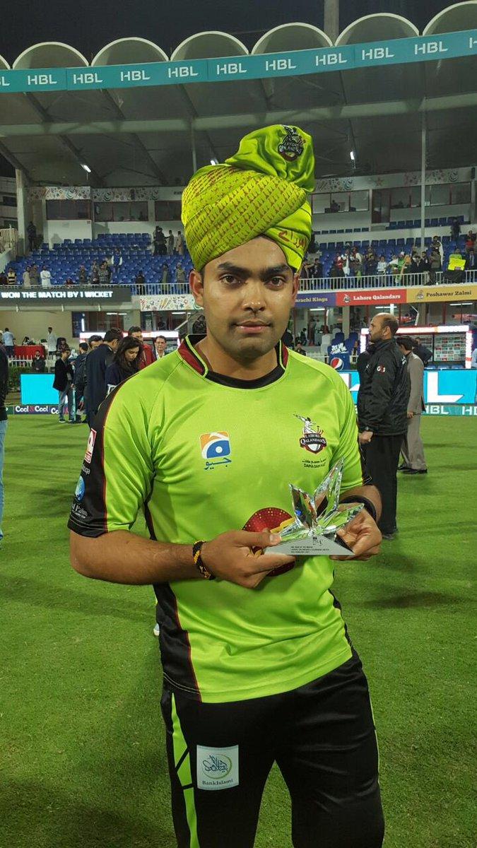 @Umar96Akmal, the Man of the Match with the Qalandari turban! Qalandar...