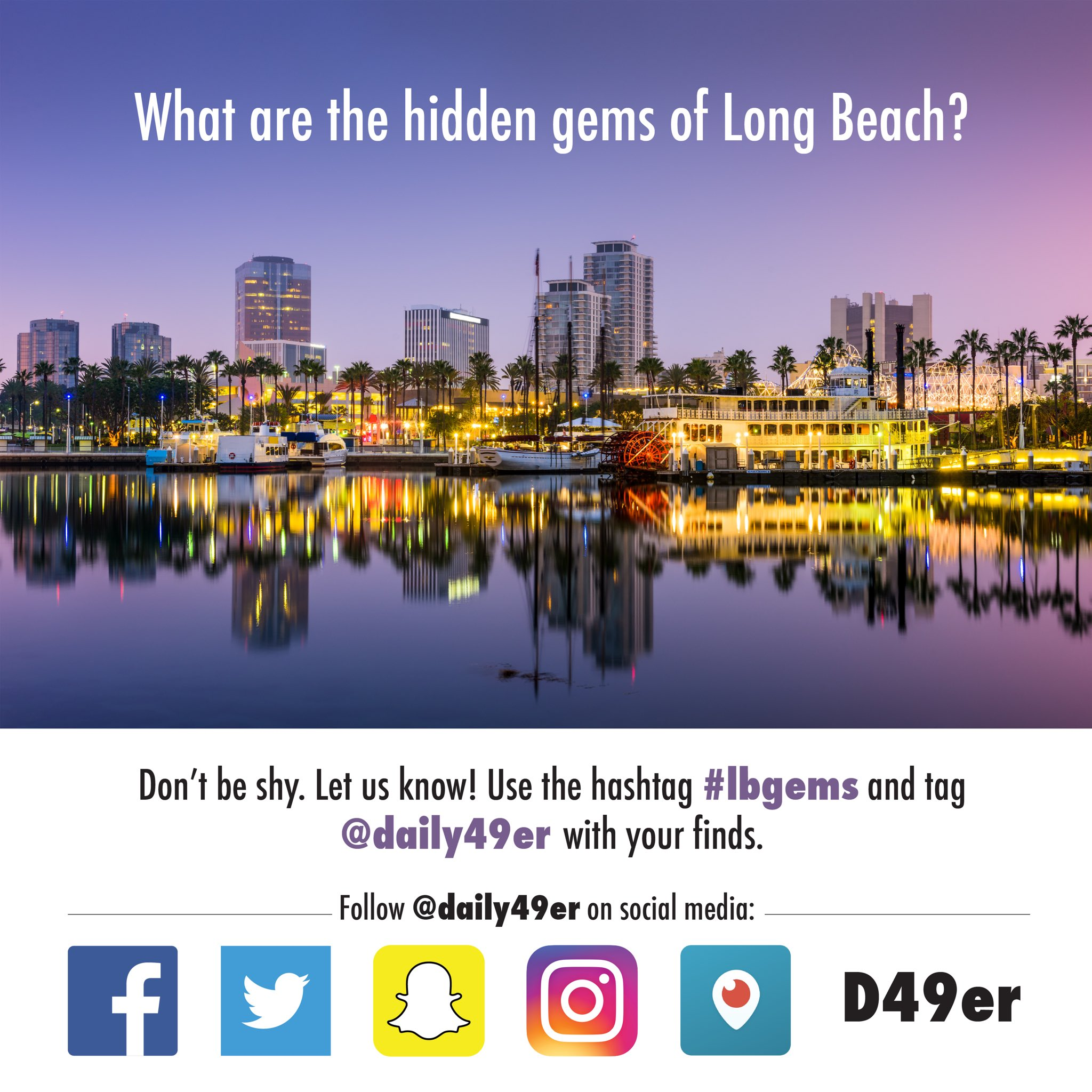 Hey 49ers!  Tell us @daily49er what restaurants, shops and museums in Long Beach deserve more attention! #LBGems #LongBeach #49erNow https://t.co/bZNjbJod2h