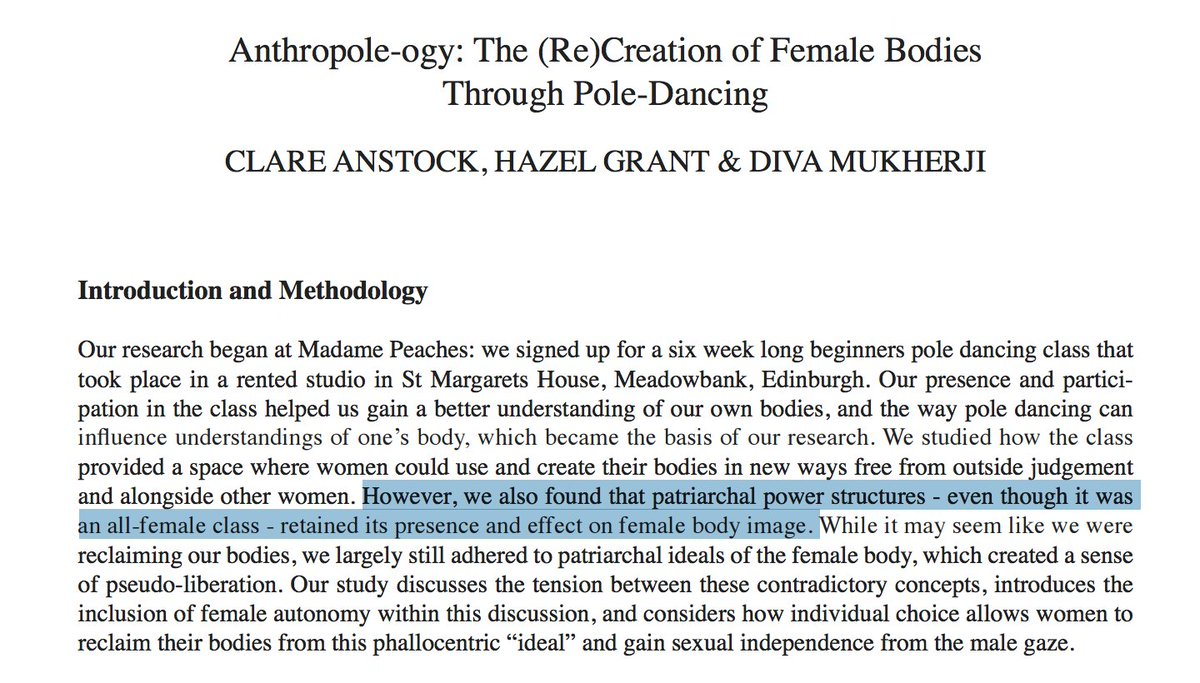 What happens when feminist scholars take a pole dancing fitness class?