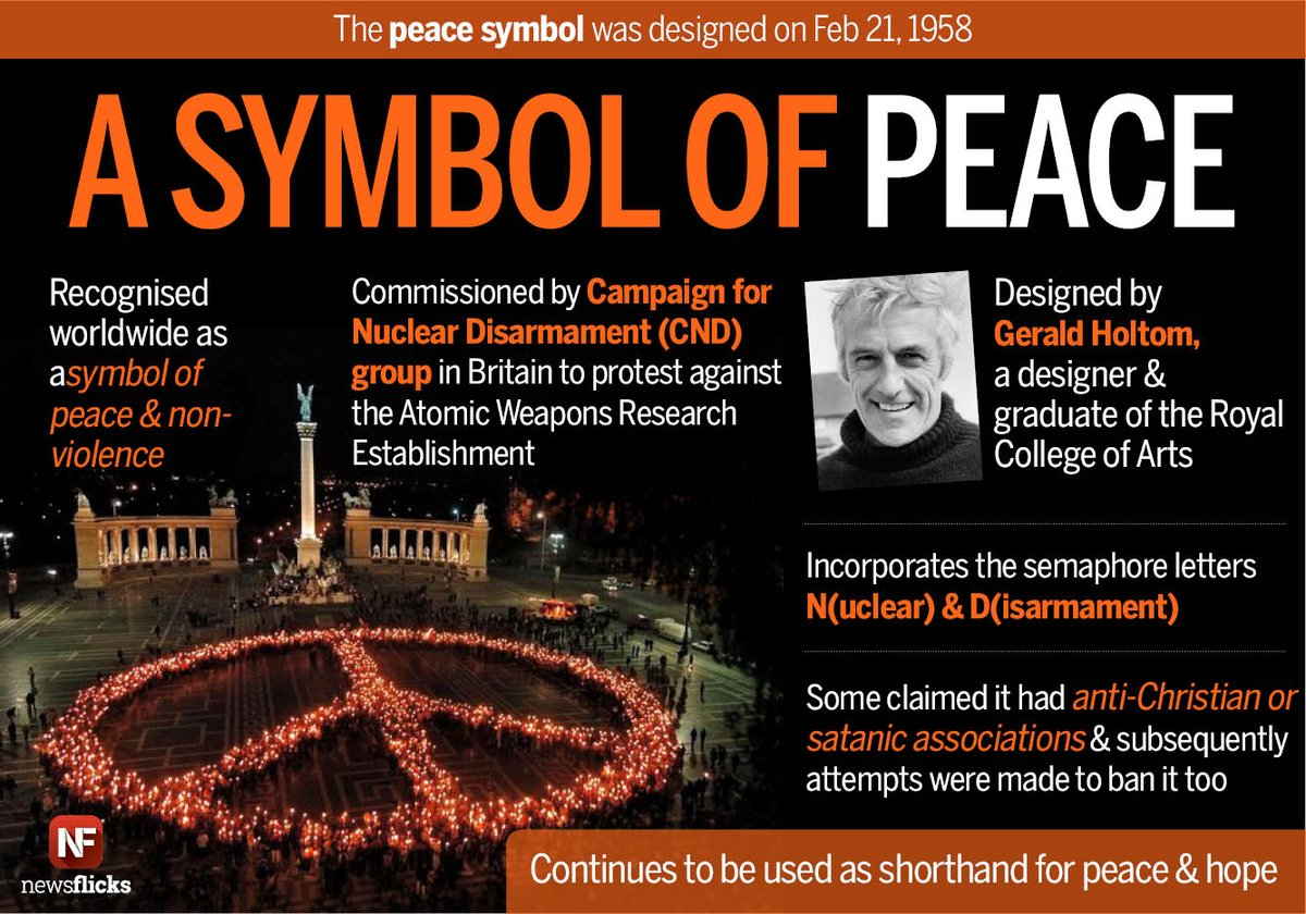 Newsflicks On Twitter The Peace Symbol Was Created By Gerald