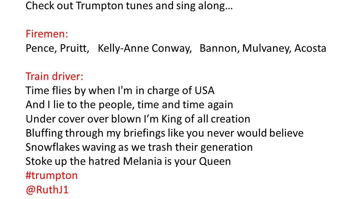Singalong #Trumpton  @Trump_ton @realDonaldTrump #trump #trumpton @mrwib