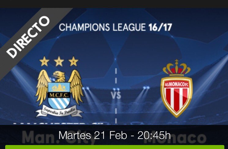Rojadirecta MANCHESTER CITY MONACO Streaming Gratis Online: vedere con Video YouTube e Facebook Live Stream oggi 21 febbraio 2017