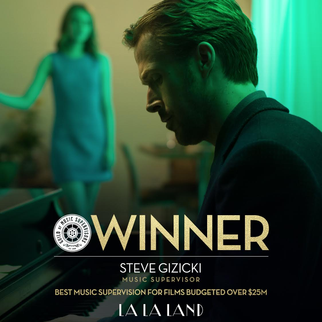 🎶 Congratulations to #LALALAND's Steve Gizicki for his Guild of Music...