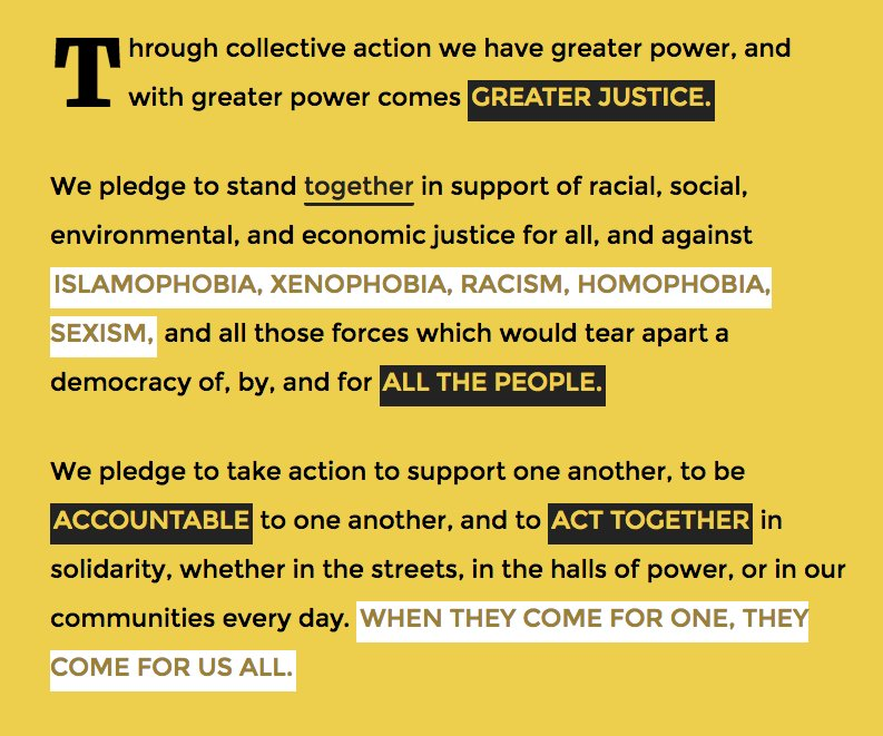 #MondayMotivation: #WeThePeople. Join the #UnitedResistance: