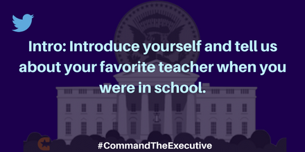 Happy #PresidentsDay! Thanks for joining us for #sschat!  Please introduce yourself.  #CommandTheExecutive https://t.co/hGgMtju5li