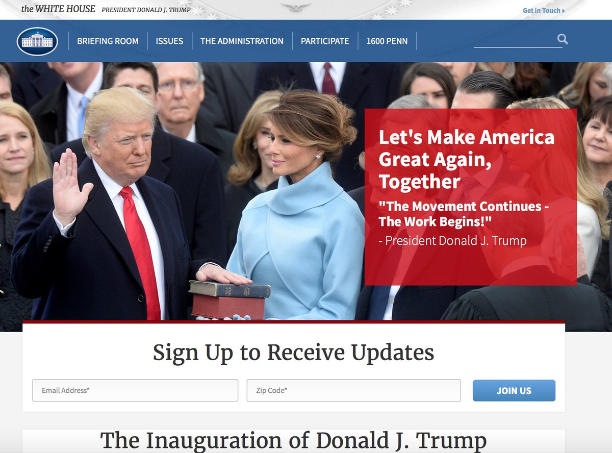 Dan Diamond On Twitter The White House Homepage  Month After - Us zip code white house