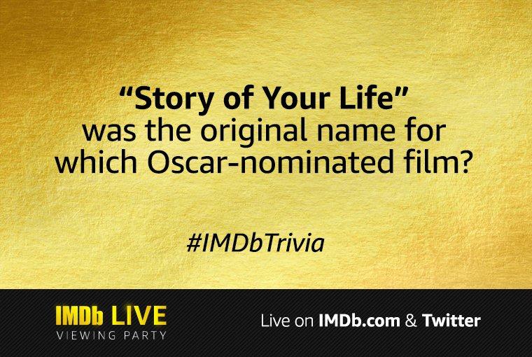 Tweet your answer to #IMDbTrivia! 🎬 #Oscars
