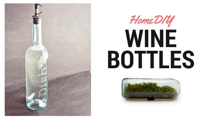 20 DIY Wine Bottle Projects
