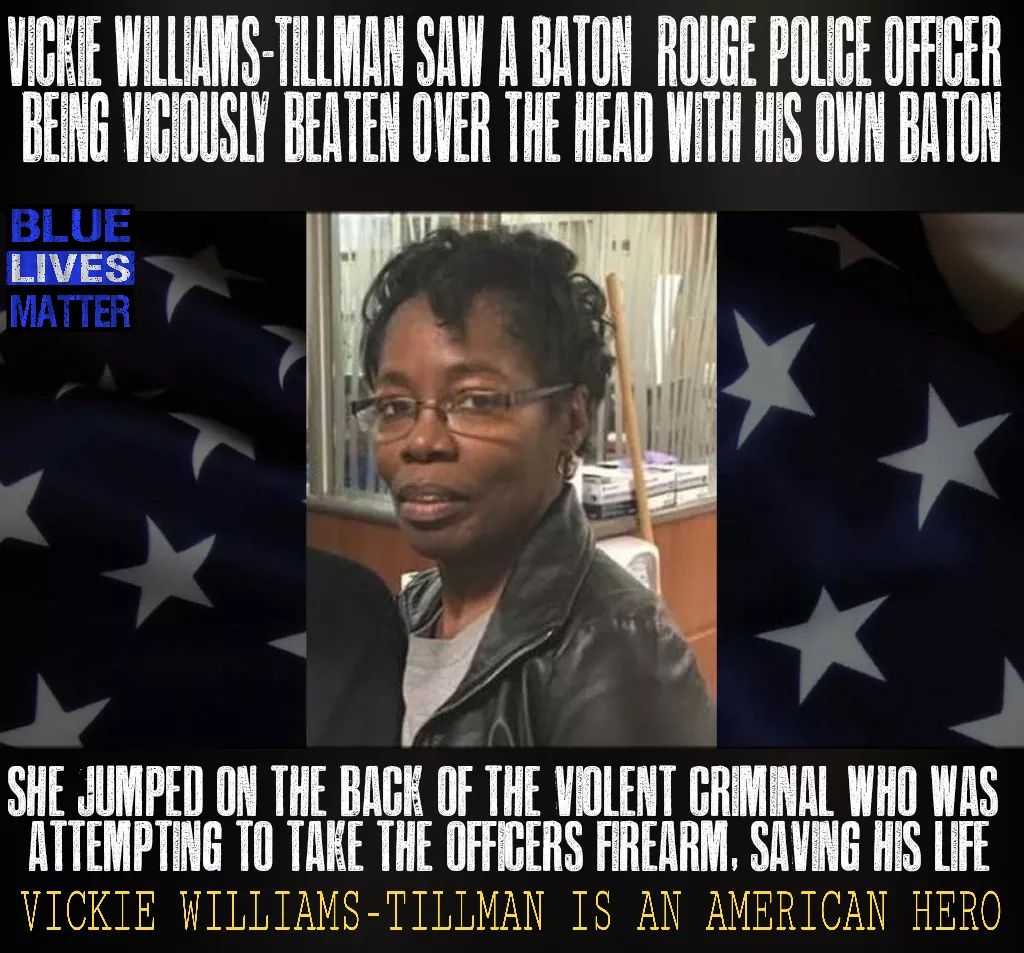 Please help us recognize Hero Vicki Williams-Tillman by making this the most RT&#39;ed meme we&#39;ve ever posted. Thank you, #HERO! #BackTheBlue <br>http://pic.twitter.com/h9EeTPXYBK