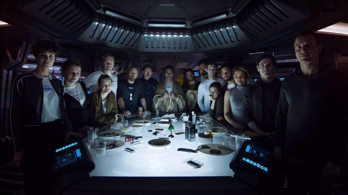 Alien Covenant con James Franco