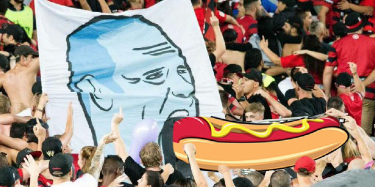 Red and Black Bloc with a more family-friendly tifo tonight… #WSWvURA...