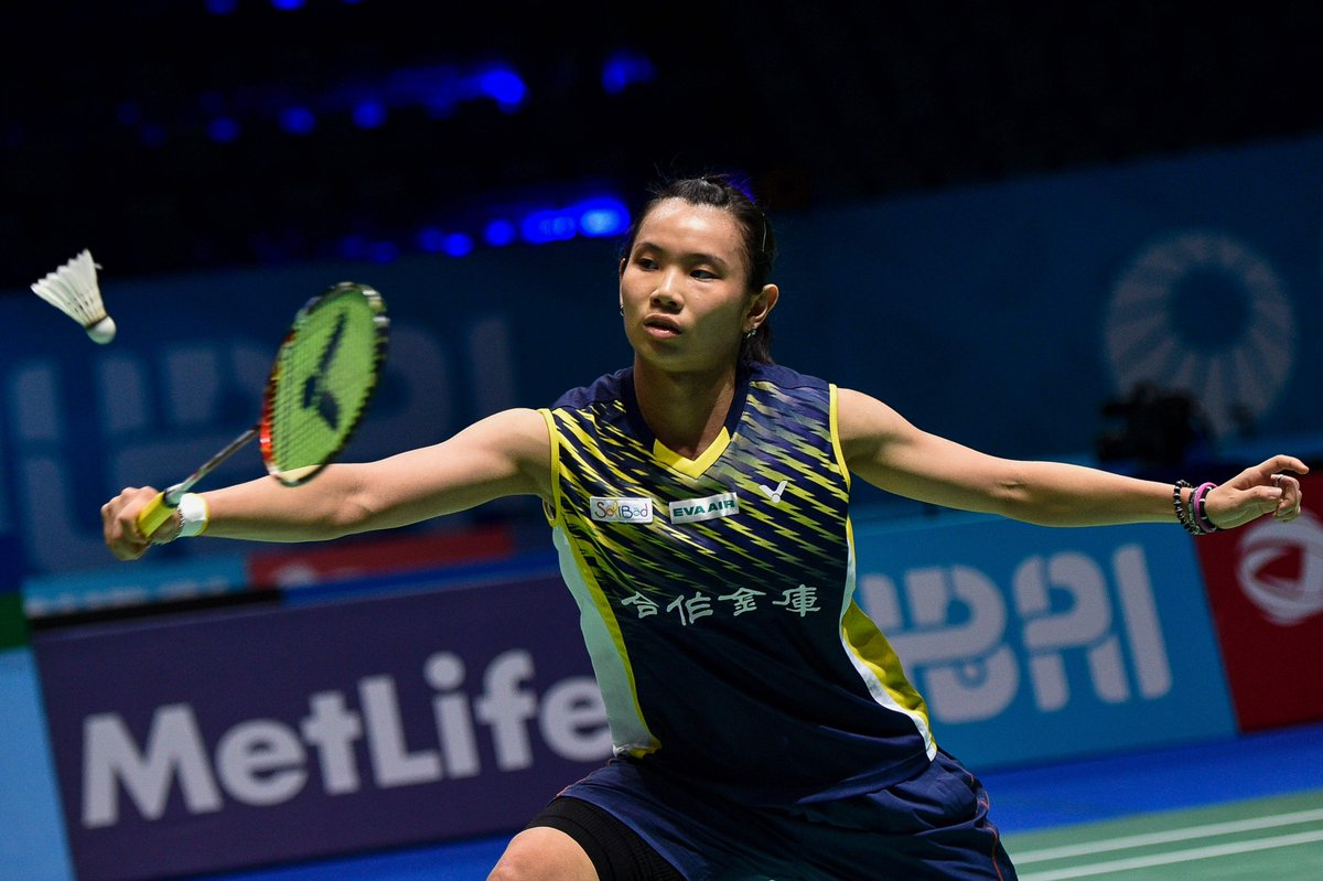"ST Sports Desk on Twitter "" Badminton Women s world No 1 Tai"