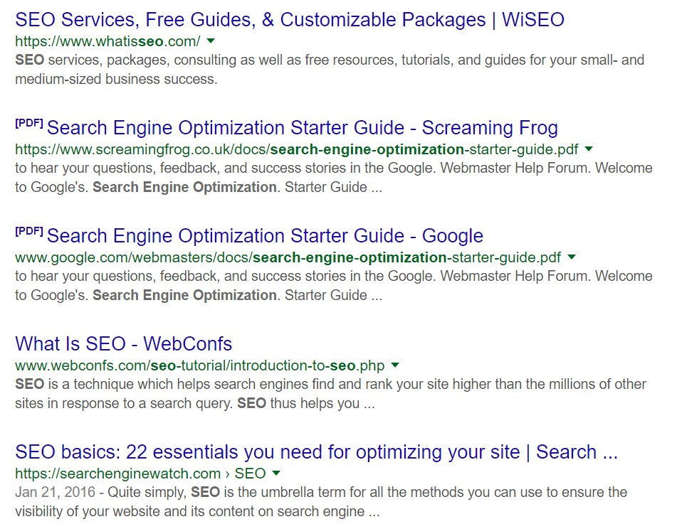 Search engine tutorial pdf.