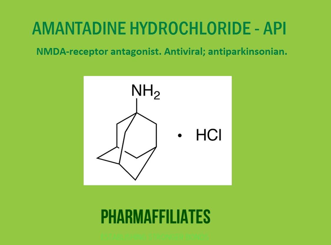 AMANTADINE HYDROCHLORIDE - API  #Amantadinehydrochloride #pharmaffiliates #pharmacy #fda #bestimpuritysupplierindia #india #uk #usa #canada<br>http://pic.twitter.com/Qaof3PMFQV