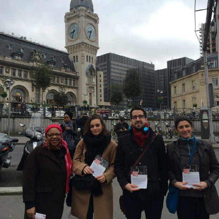 Tous #surlepont ce matin à #Paris12 #GaredeLyon Très bon accueil et bcp d&#39;intérêt pour le programme de #Hamon2017  Une belle dynamique !<br>http://pic.twitter.com/IQ7zS3SRoK