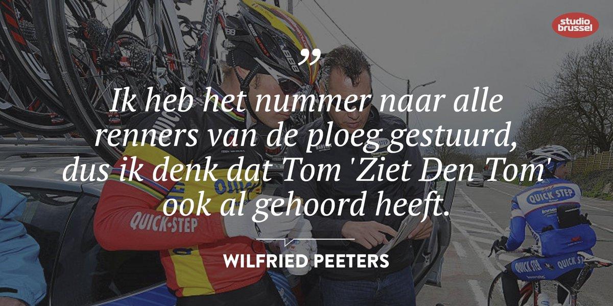 Duimpje voor @quickstepteam-ploegleider @wilfriedpeeters! Linde belde...