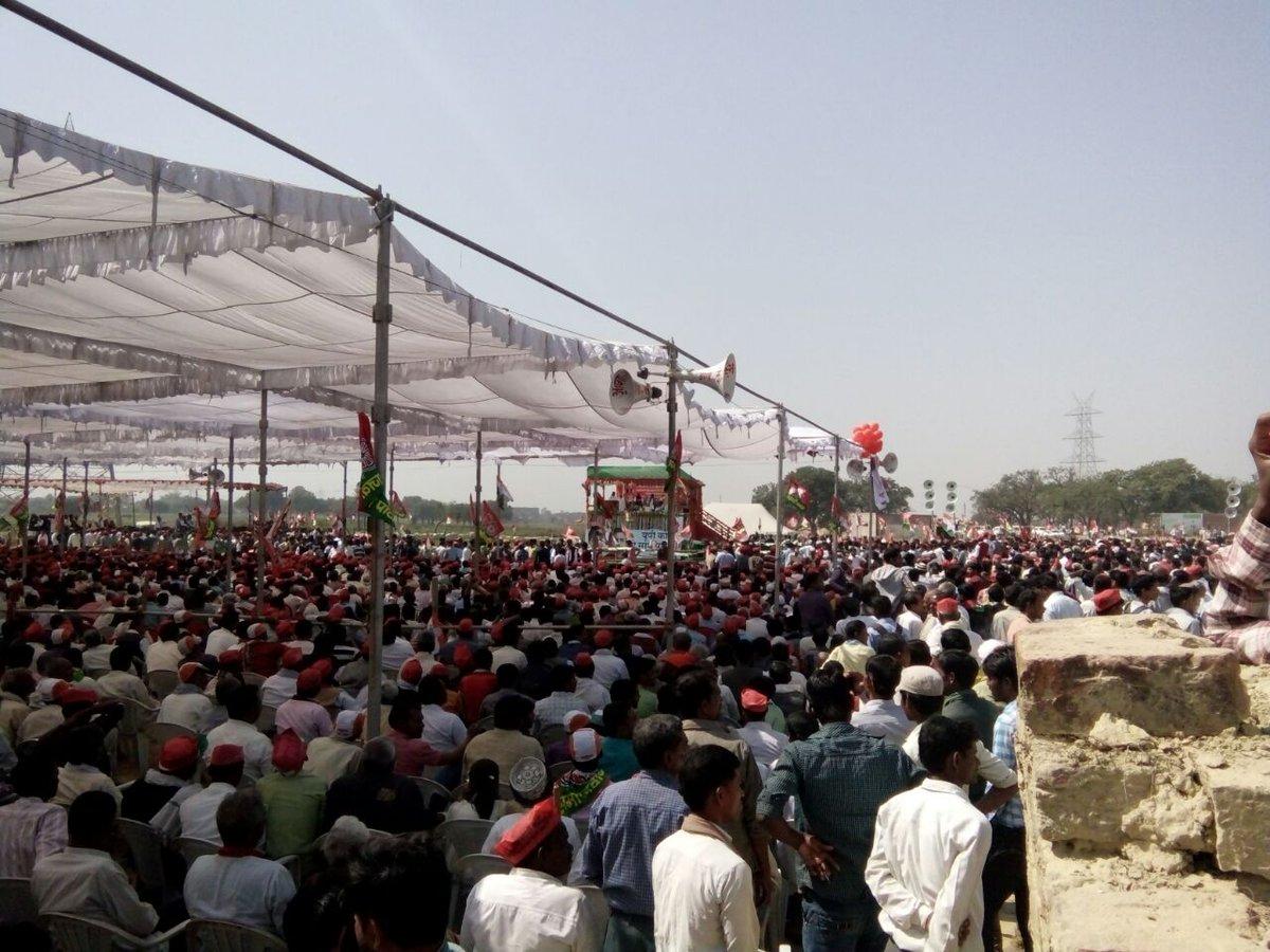 सिराथू में अखिलेश यादव जी ने सभा को संबोधित किया. #संगम_किनारे_राहुल_अ...